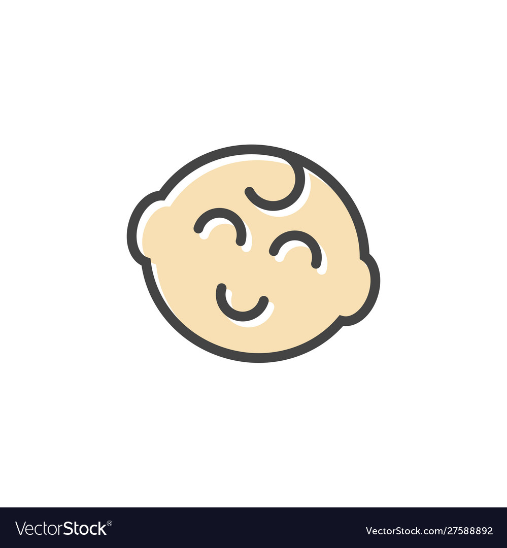 Baby head icon design template isolated