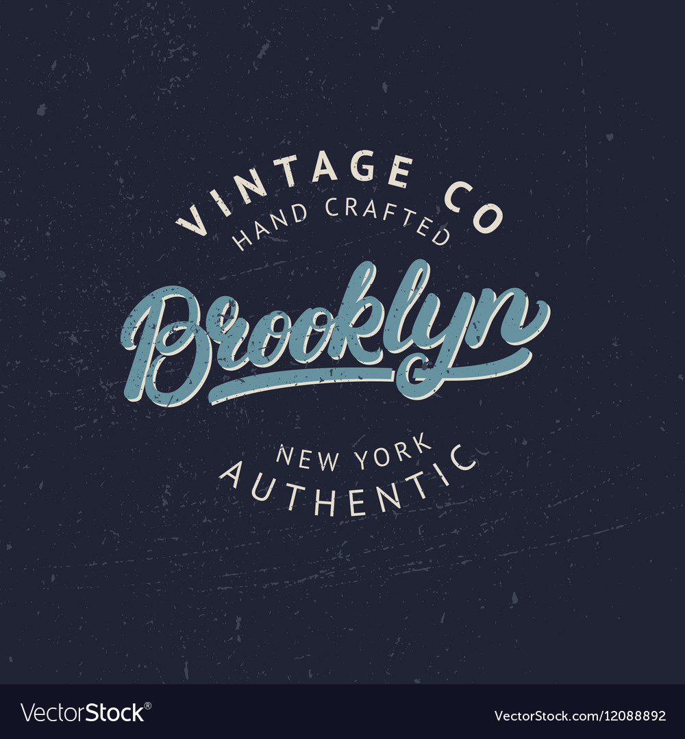 Brooklyn hand written lettering for tee print