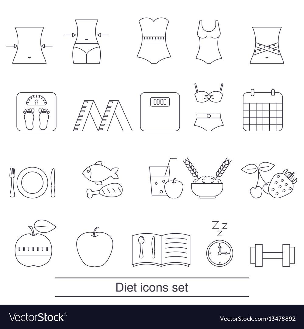 Diet icons set diet icons set