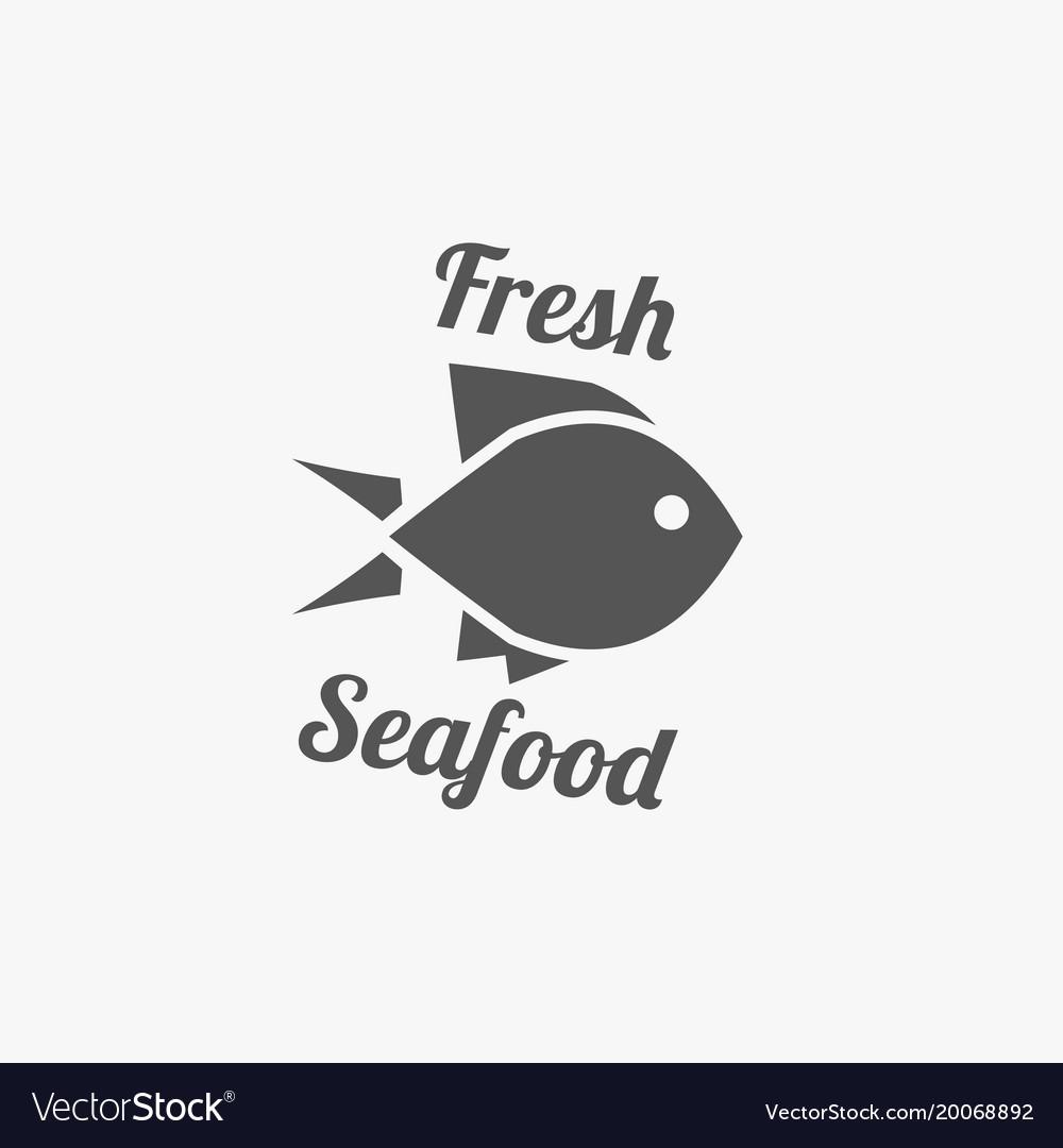 Fish emblem seafood logo