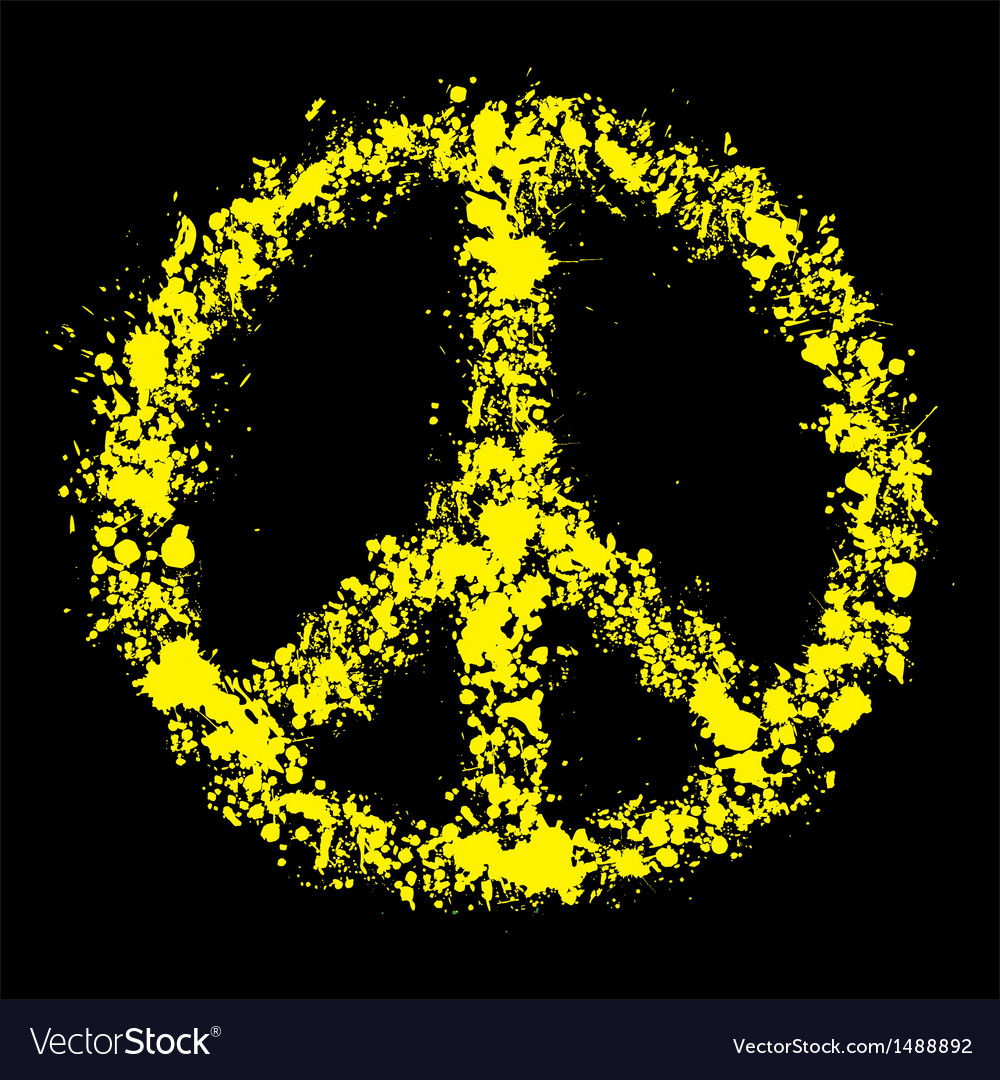 Grunge peace symbol - pacific vector image