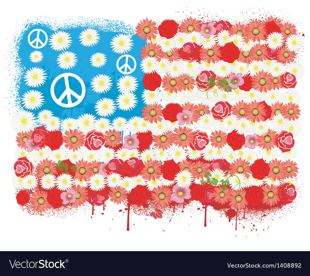 Happy Peace flag USA