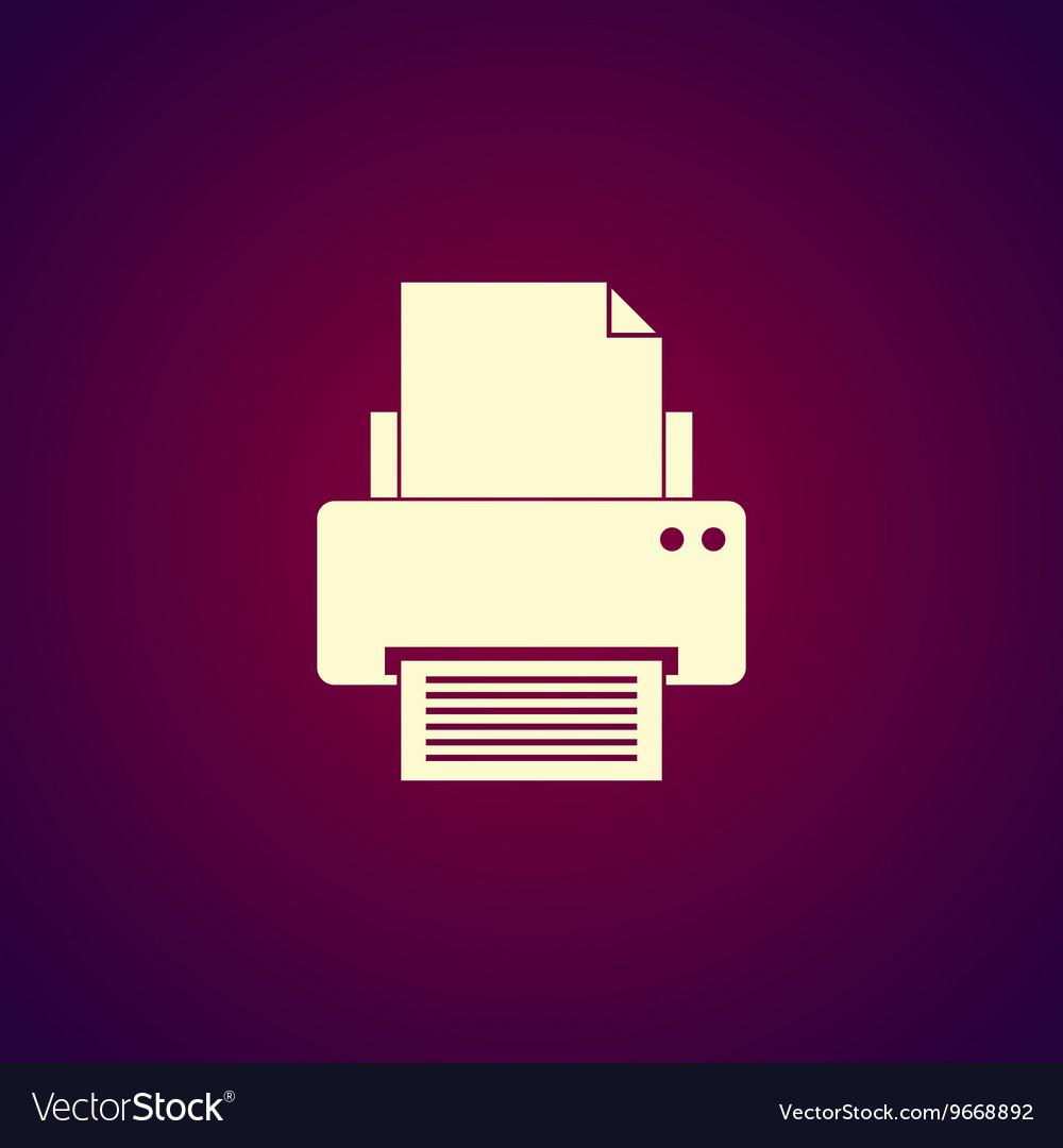 Print icon Flat design style