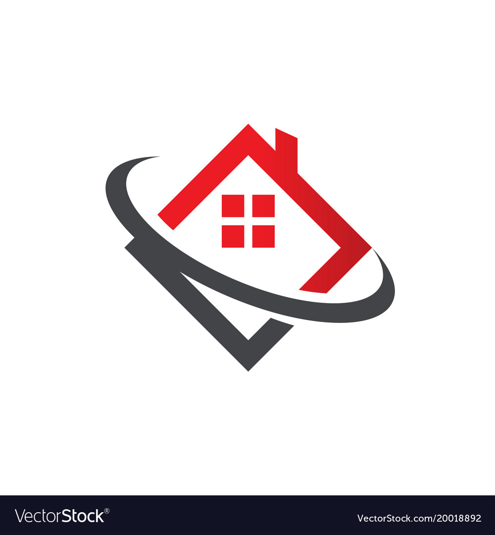 Real Estate House Roof Icon Royalty Free Vector Image