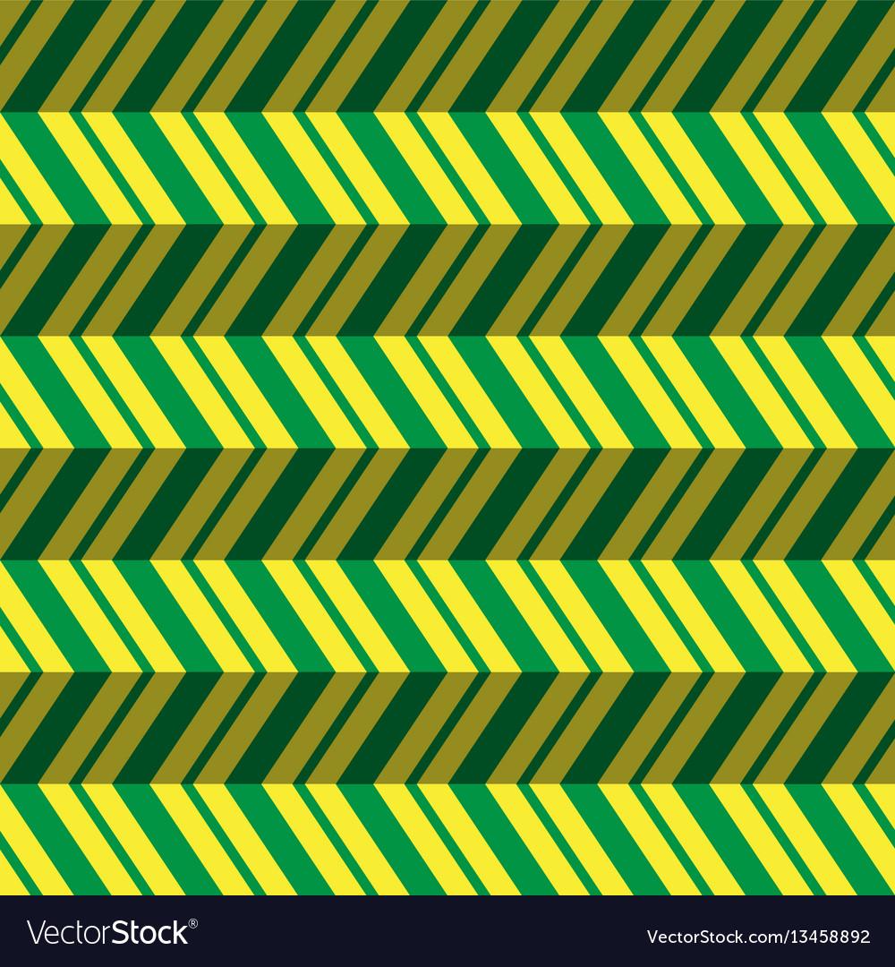 Seamless pattern green yellow zig zag background