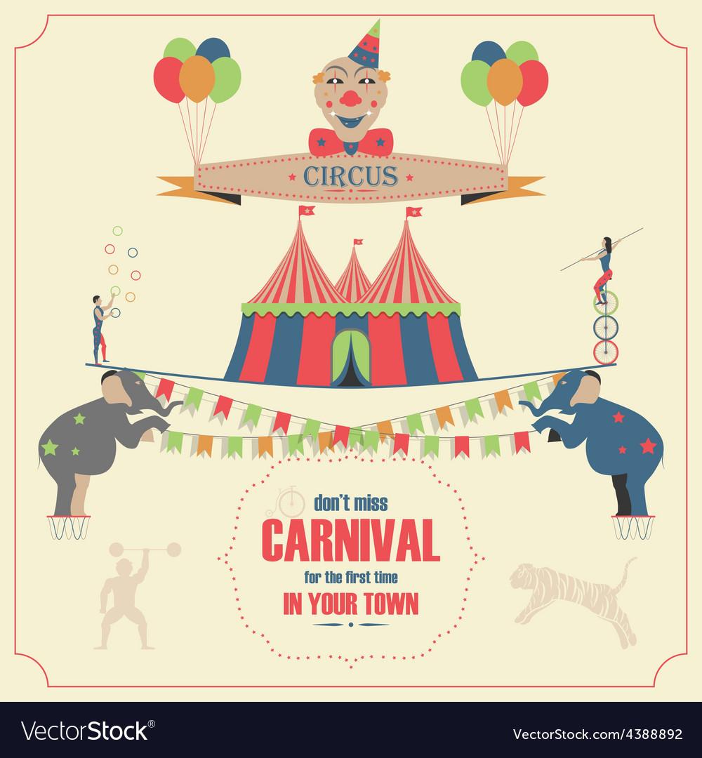 Set of Circus Flat Icons