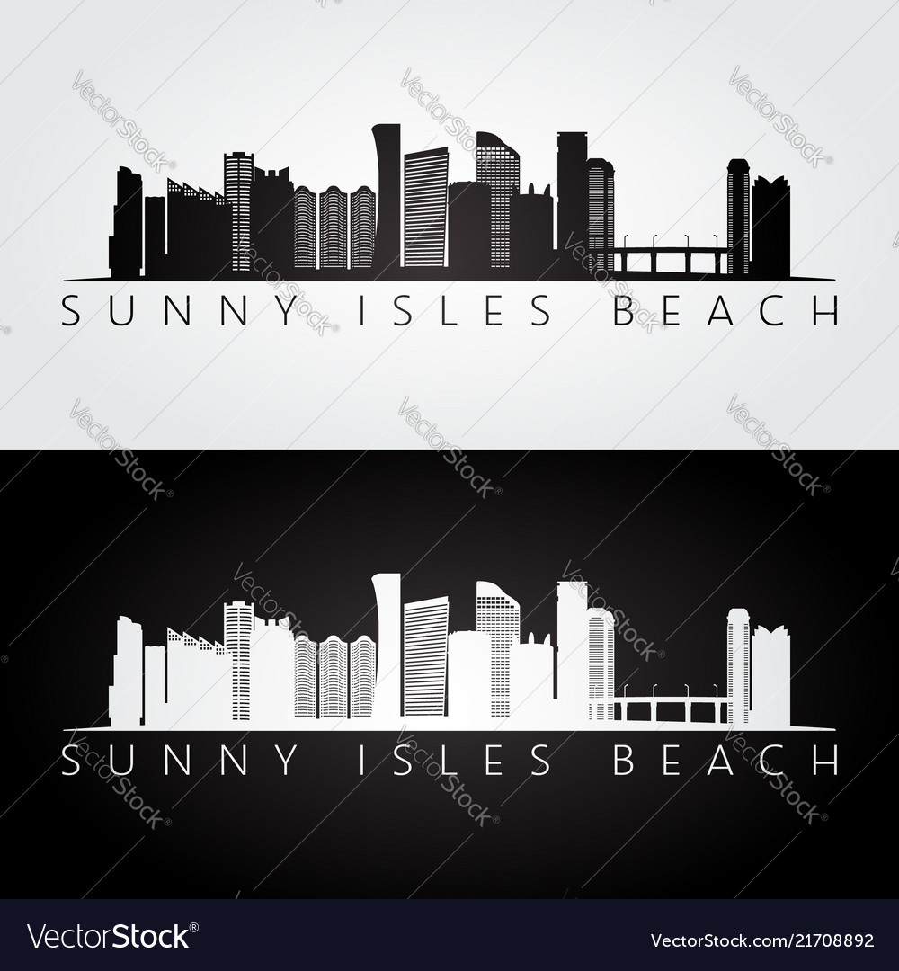 Sunny isles beach usa skyline and landmarks