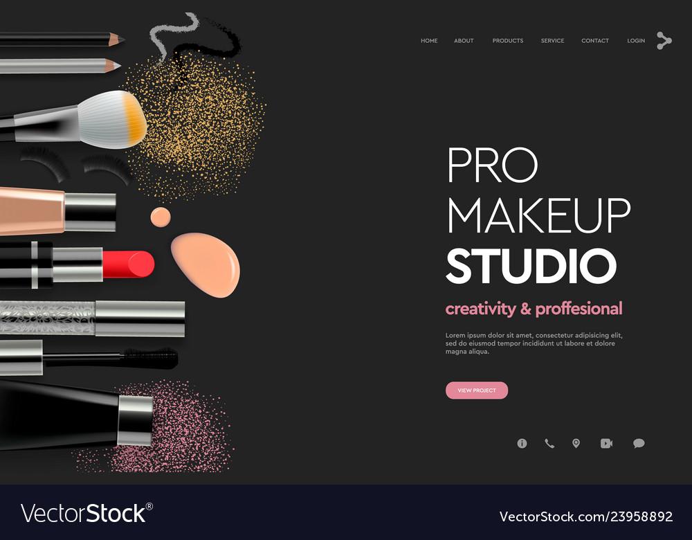 Makeup Studio Course Vector Image