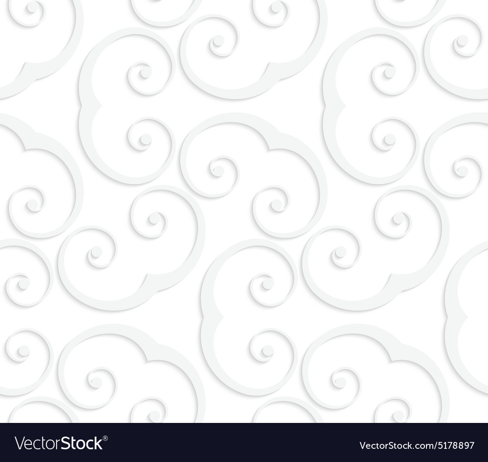 3D white swirly u shapes