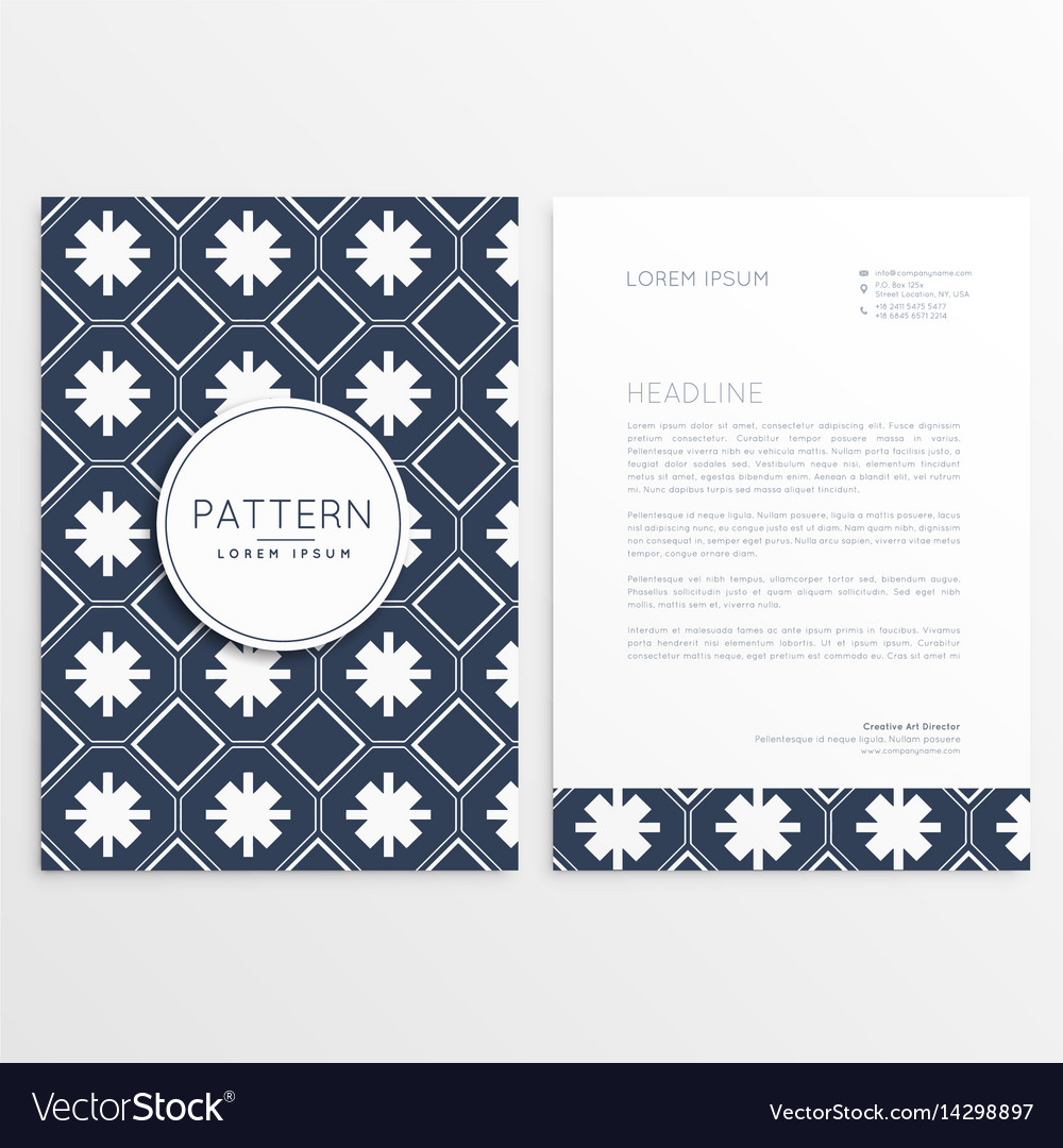Abstract letterhead pattern template vector image