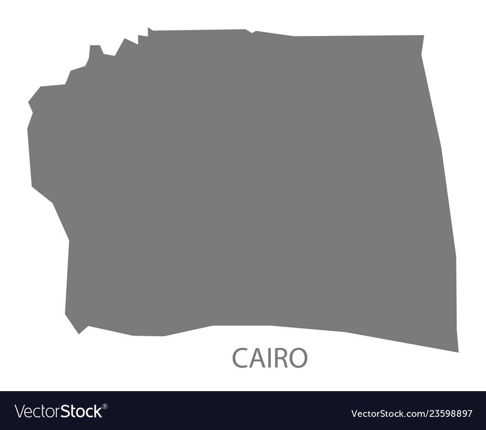 Cairo egypt map grey