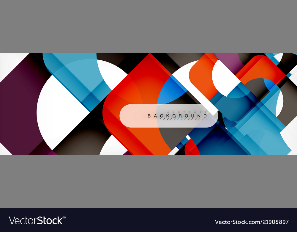 Color square shapes geometric modern abstract