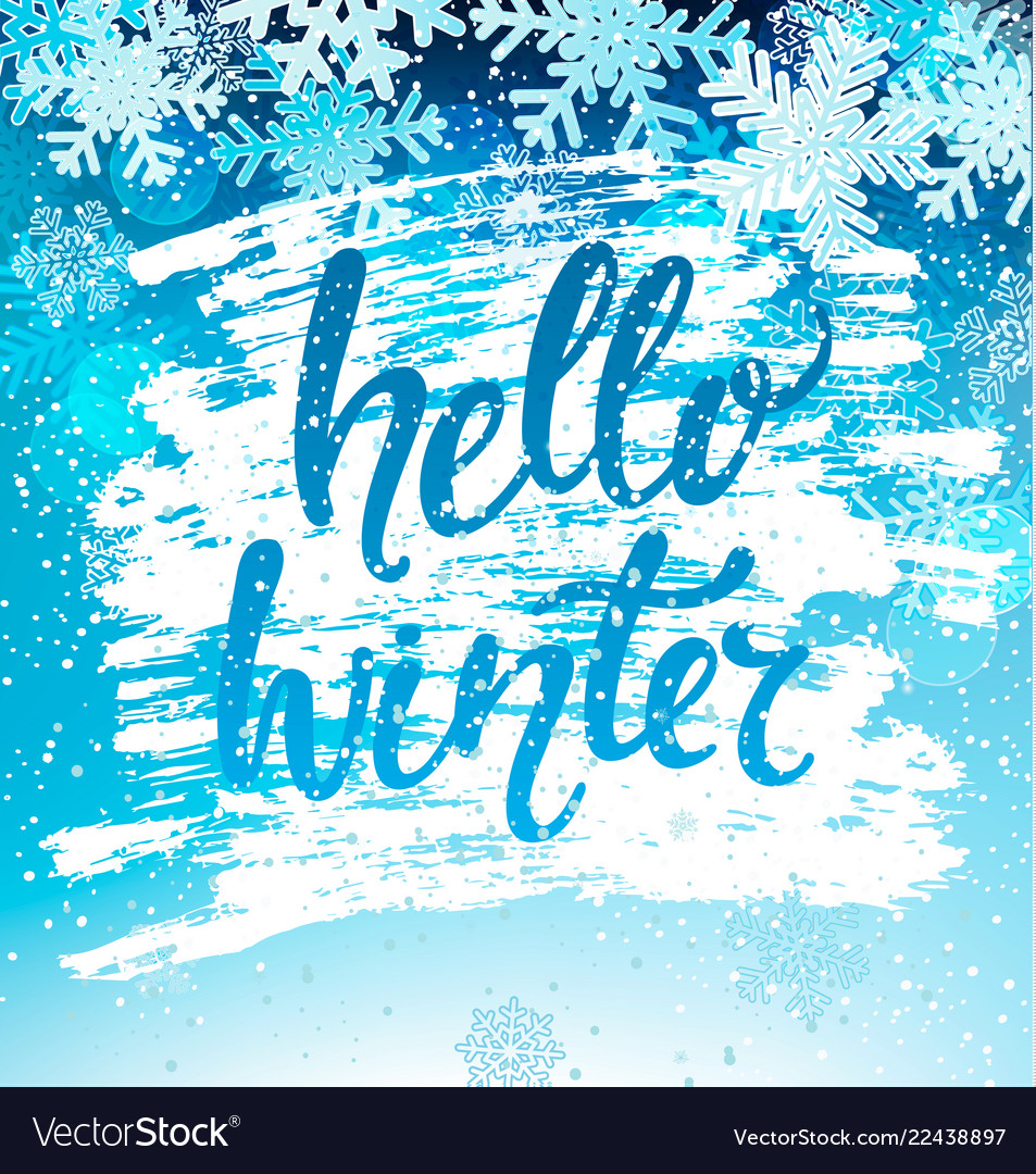 Hello winter geeting card
