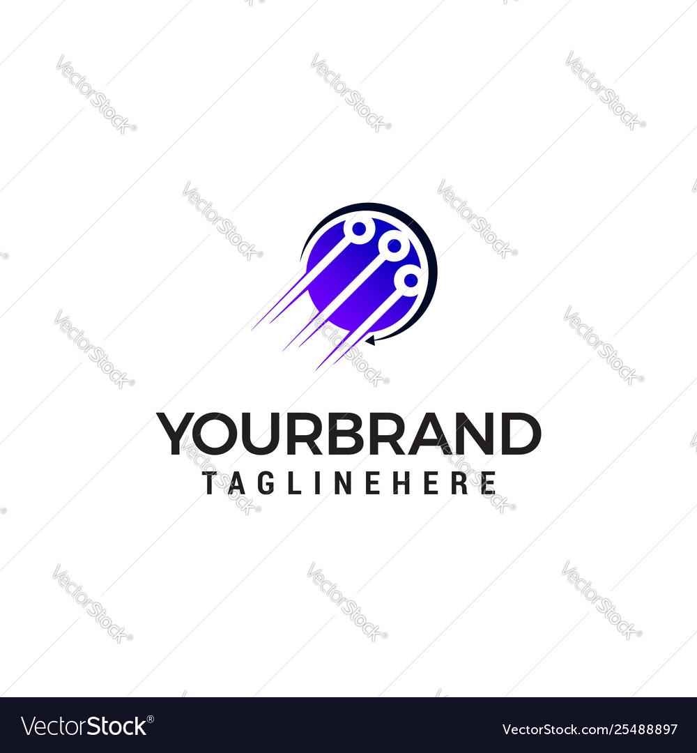 Technology logo design concept template