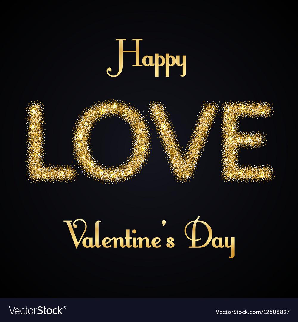 Valentines day gold love