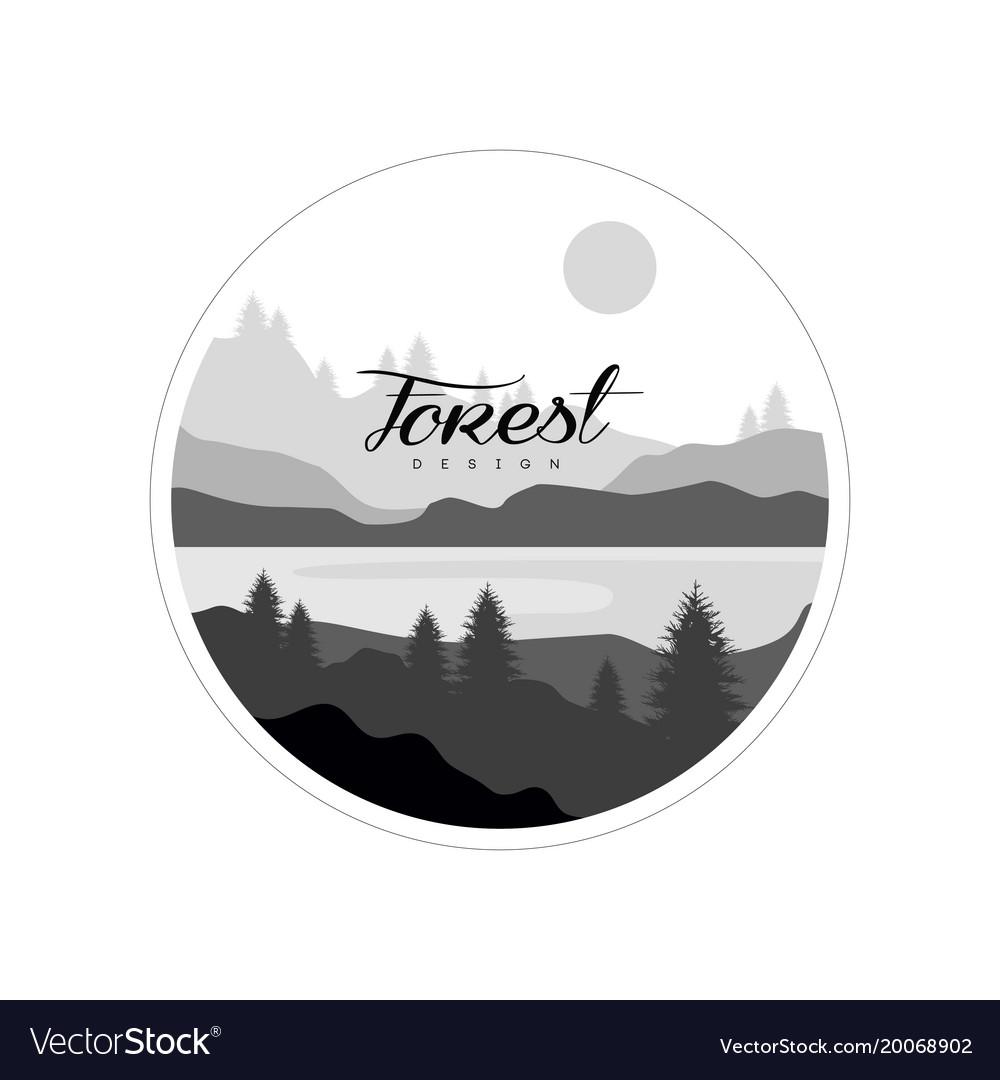 Forest logo design beautiful nature landscape