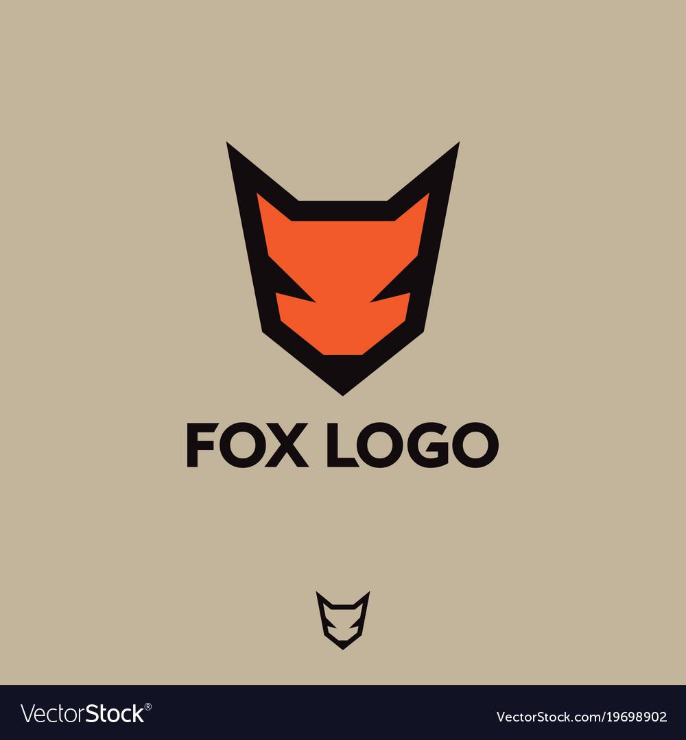 Fox Logo Emblem Vector Image