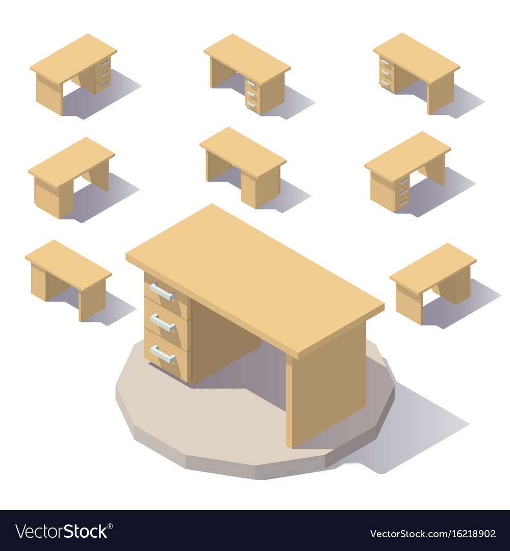 Isometric low poly table