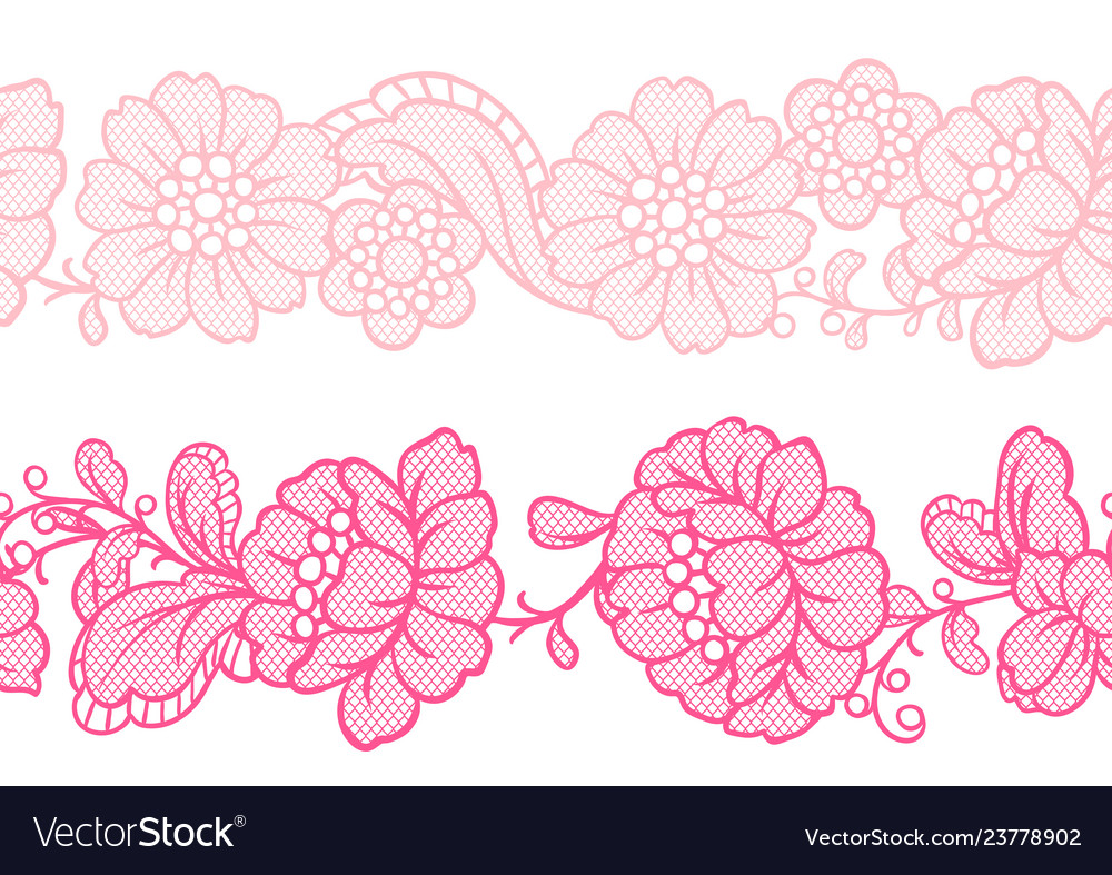 Seamless lace pattern with flowers