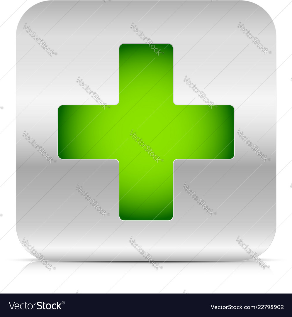 Stylish green cross for first-aid health care