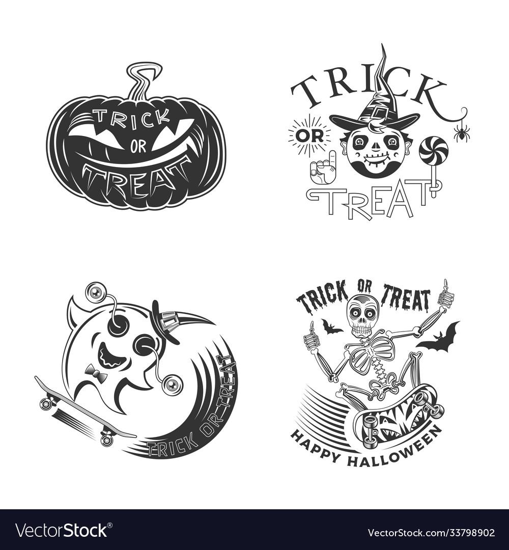 Trick or treat design set