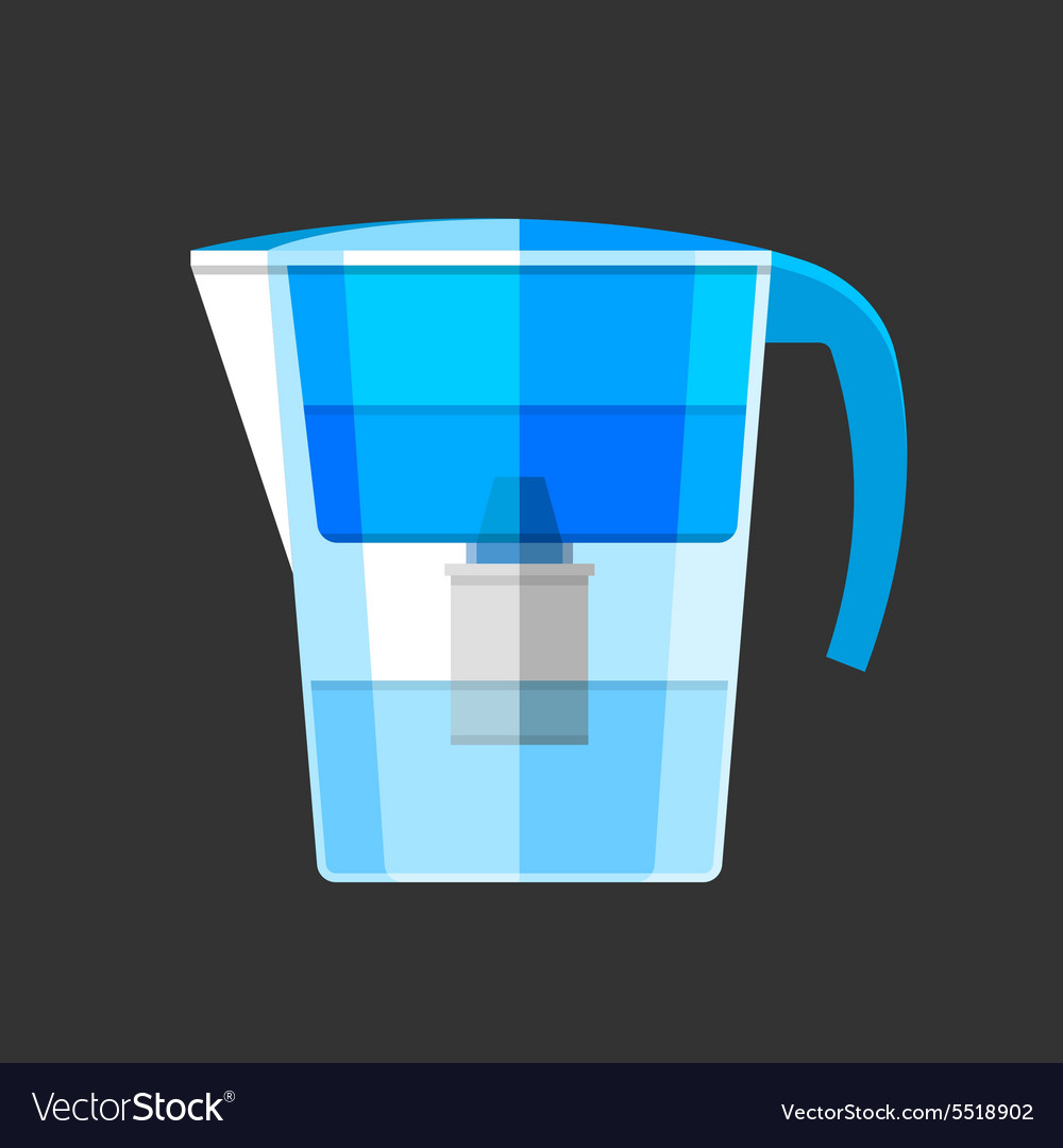 Water filter Flat design icon