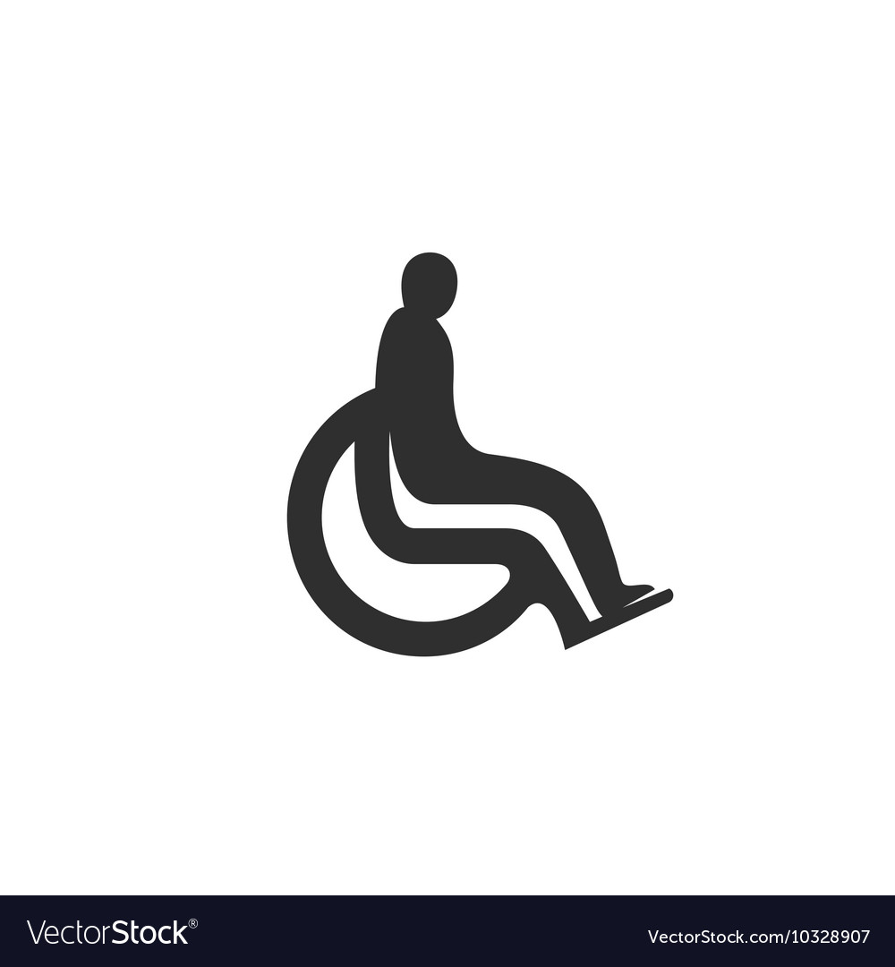 Disabled icon isolated on white background