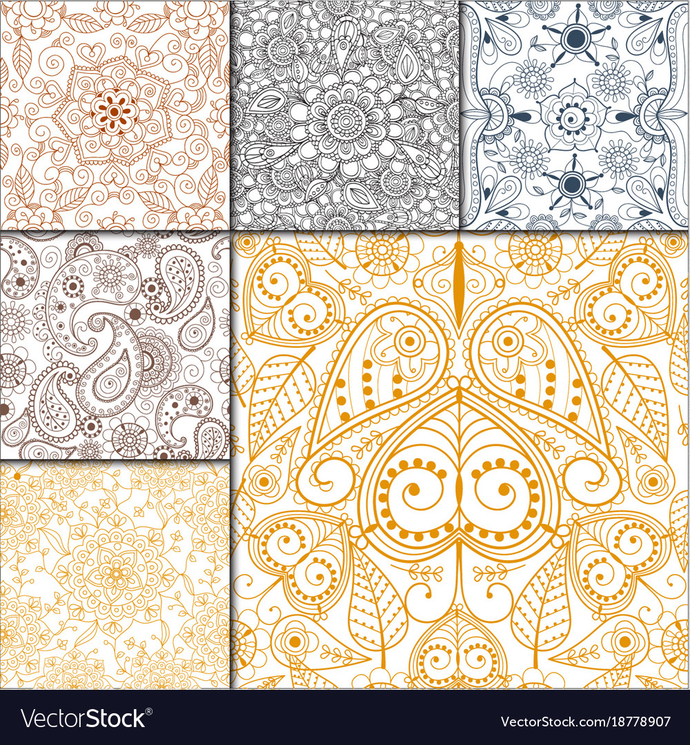 Floral mehendi pattern ornament