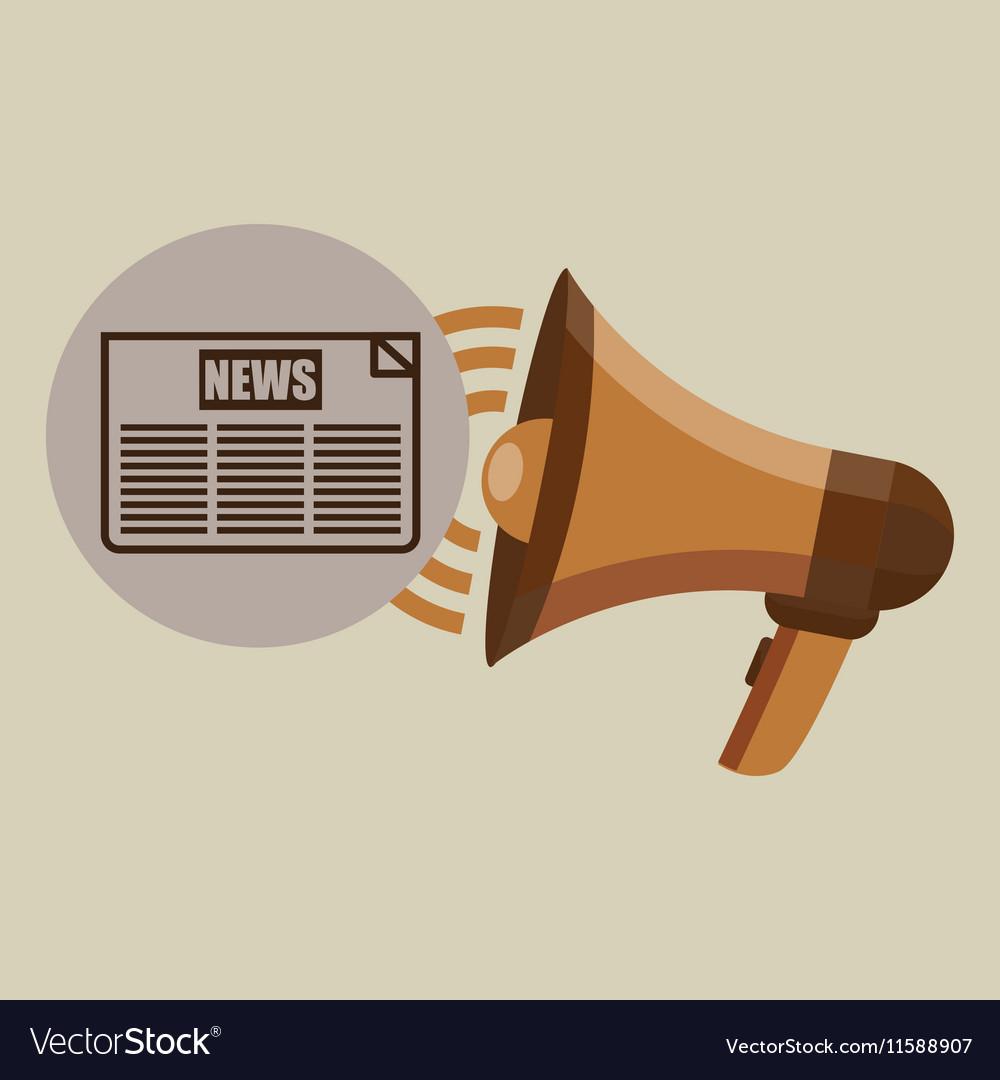 Megaphone concept news headline design