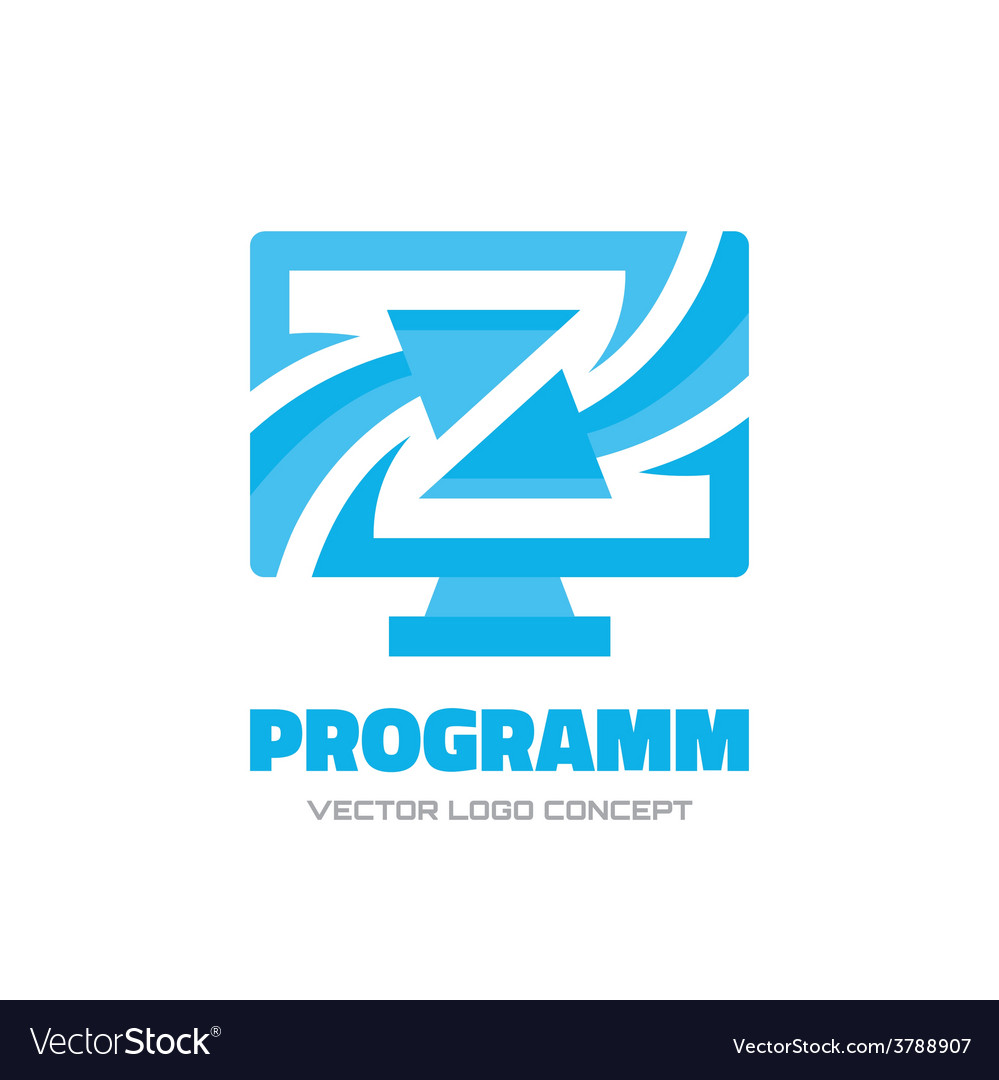 Program - logo concept vector image