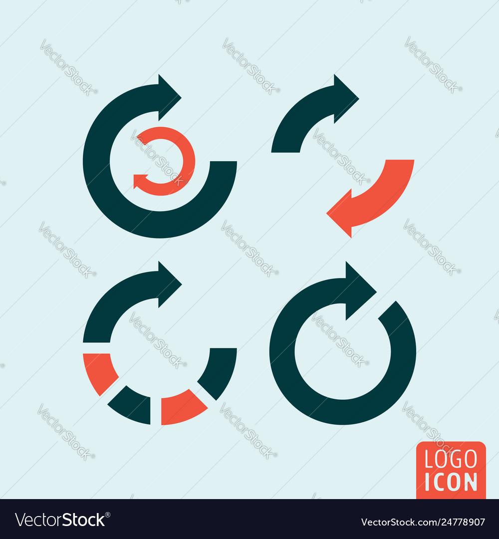 Rotation arrow set infographic round arrows