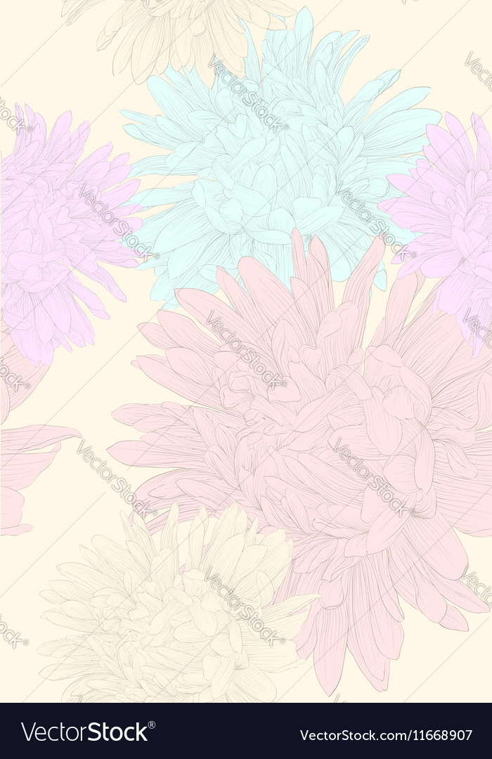 Seamless background with flowers vector image