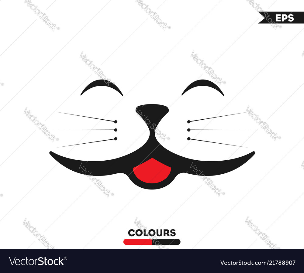 Smiling cat face