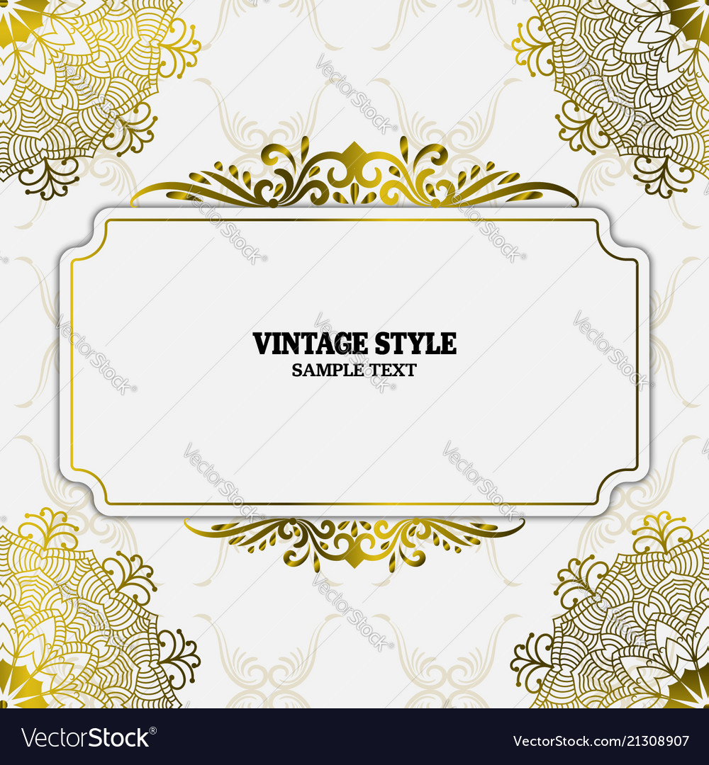 Vintage decorations elements and frames