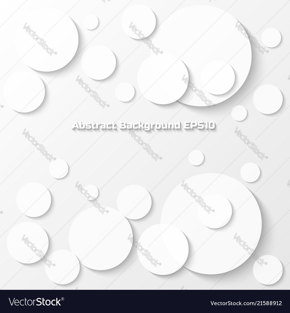 Abstract gray background with circle paper style