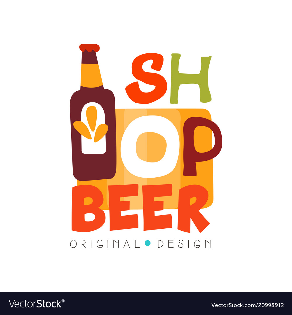 Beer shop logo design template beer house bar