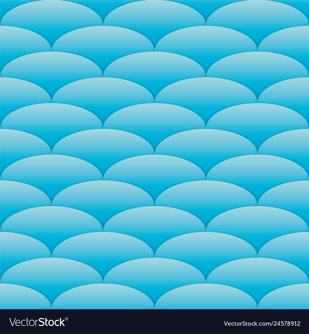 Blue cut wave seamless pattern sea background