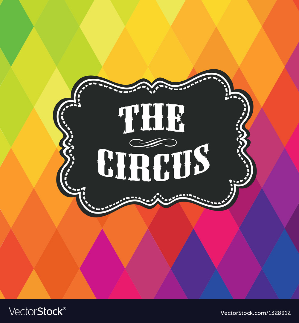 Circus themed poster template