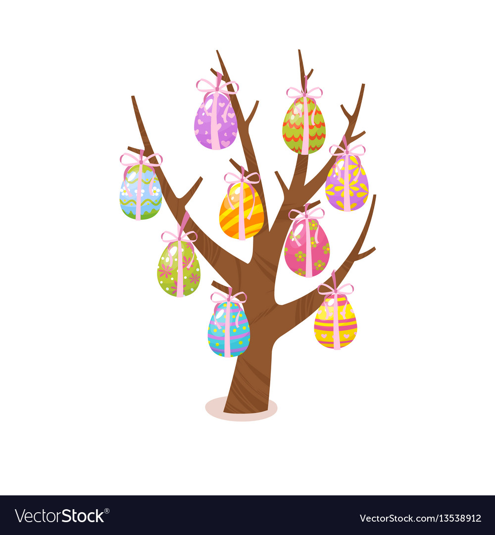 Eggs tree easter traditional element religious