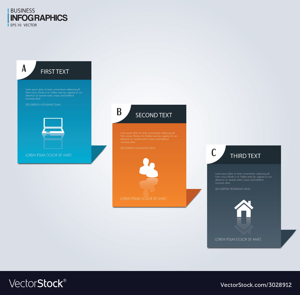 Set of paper banners Modern design template