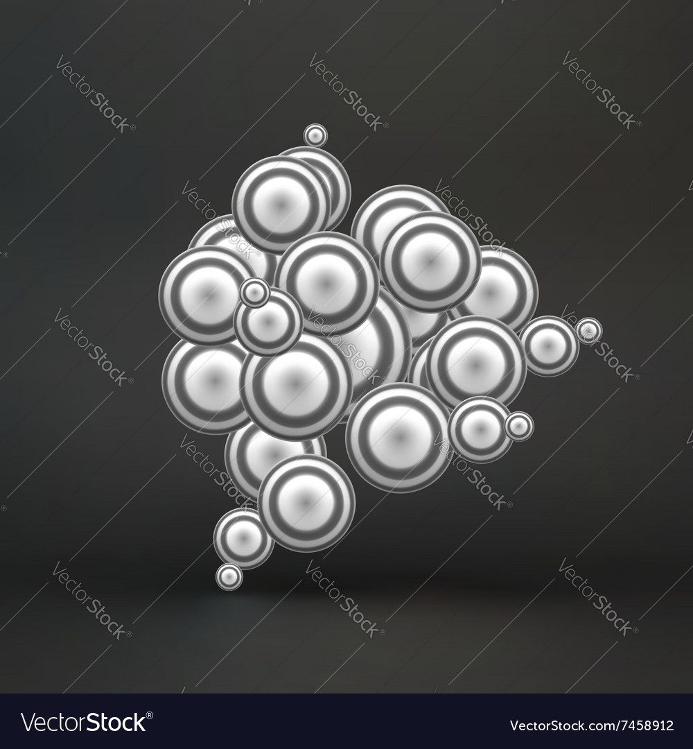 Sphere Molecular Structure 3d vector image