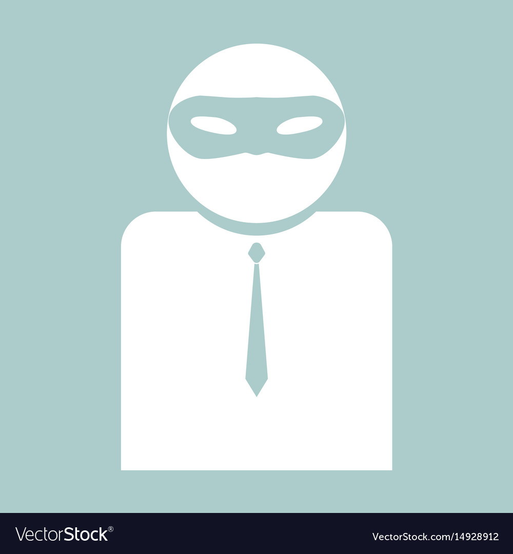 The man incognito in a mask the white color icon