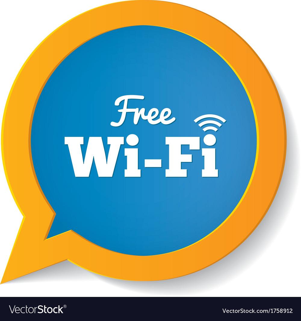 Wifi speech bubble Free wifi symbol Wifi zone