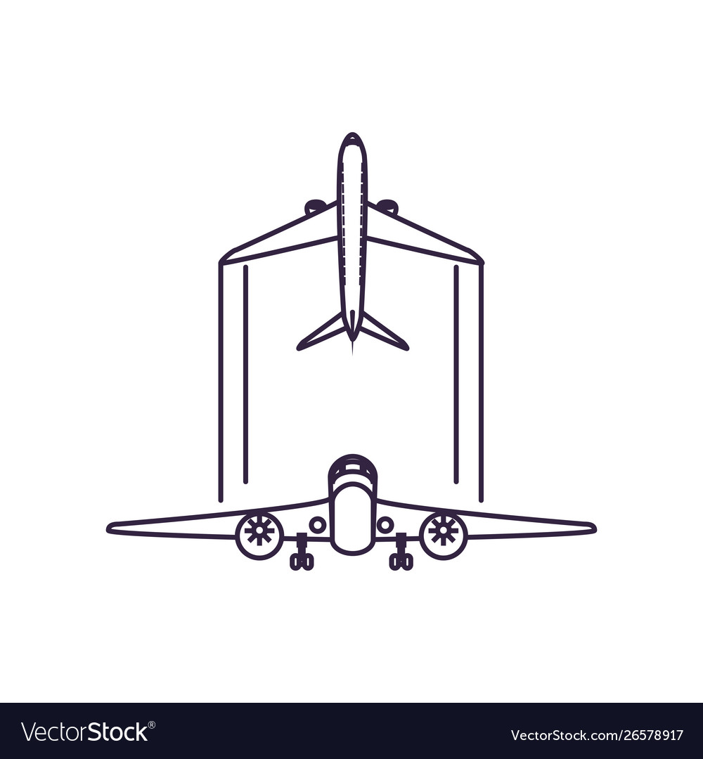 Airplanes Flying Vehicles Isolated Icon Royalty Free Vector
