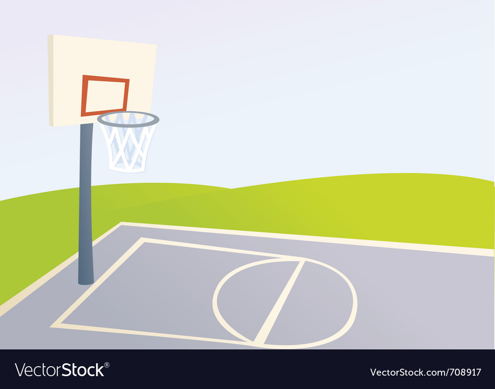cartoon basketball court royalty free vector image rh vectorstock com cartoon picture of basketball court cartoon basketball court background