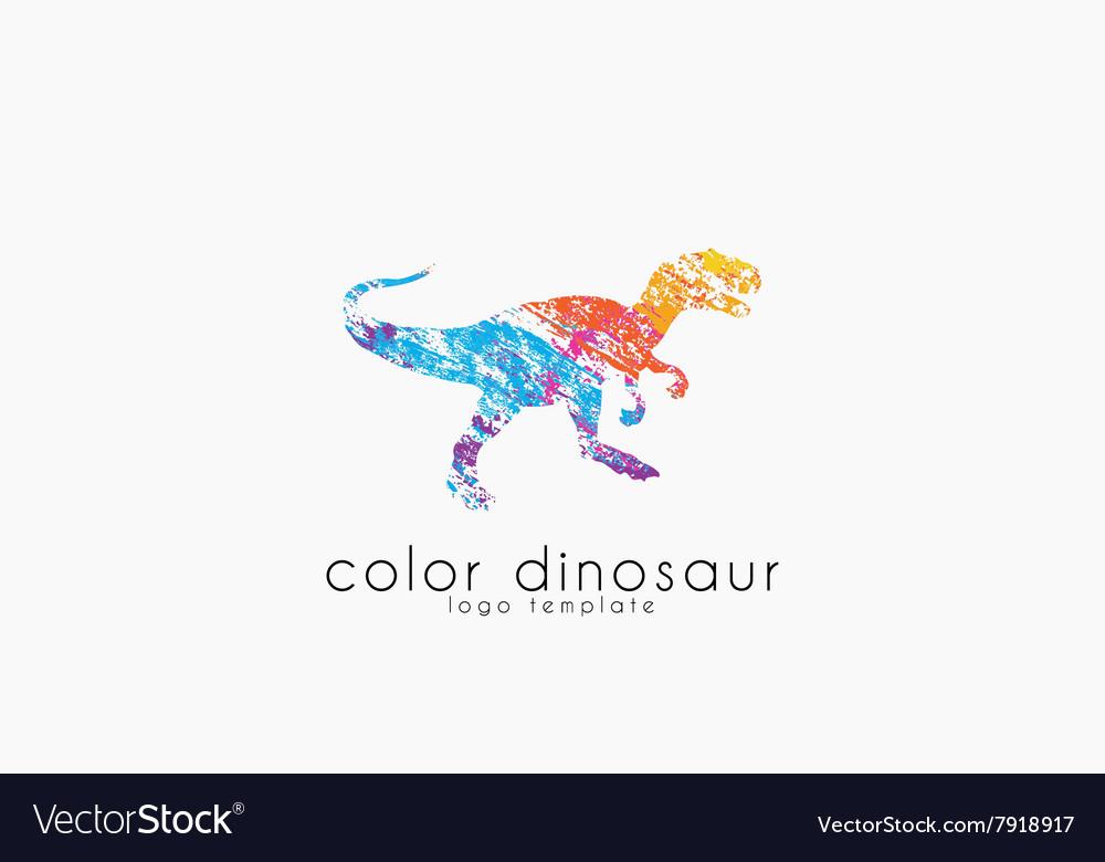 Dinosaur logo design color logo animal logo