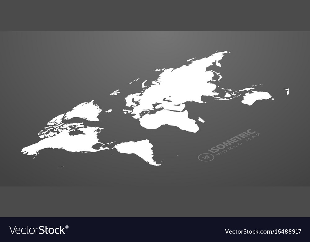 Isometric world map in dark background royalty free vector isometric world map in dark background vector image gumiabroncs Choice Image