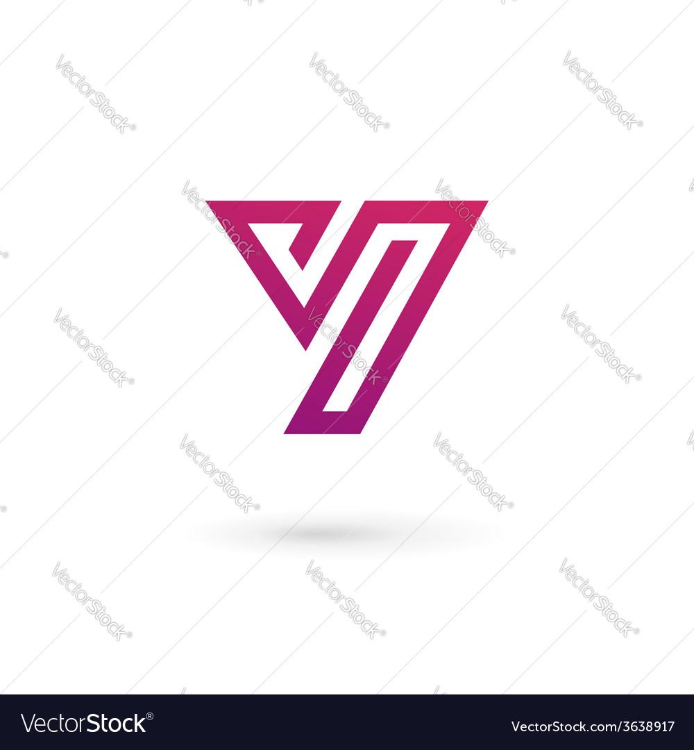 Letter y logo icon design template elements vector image maxwellsz