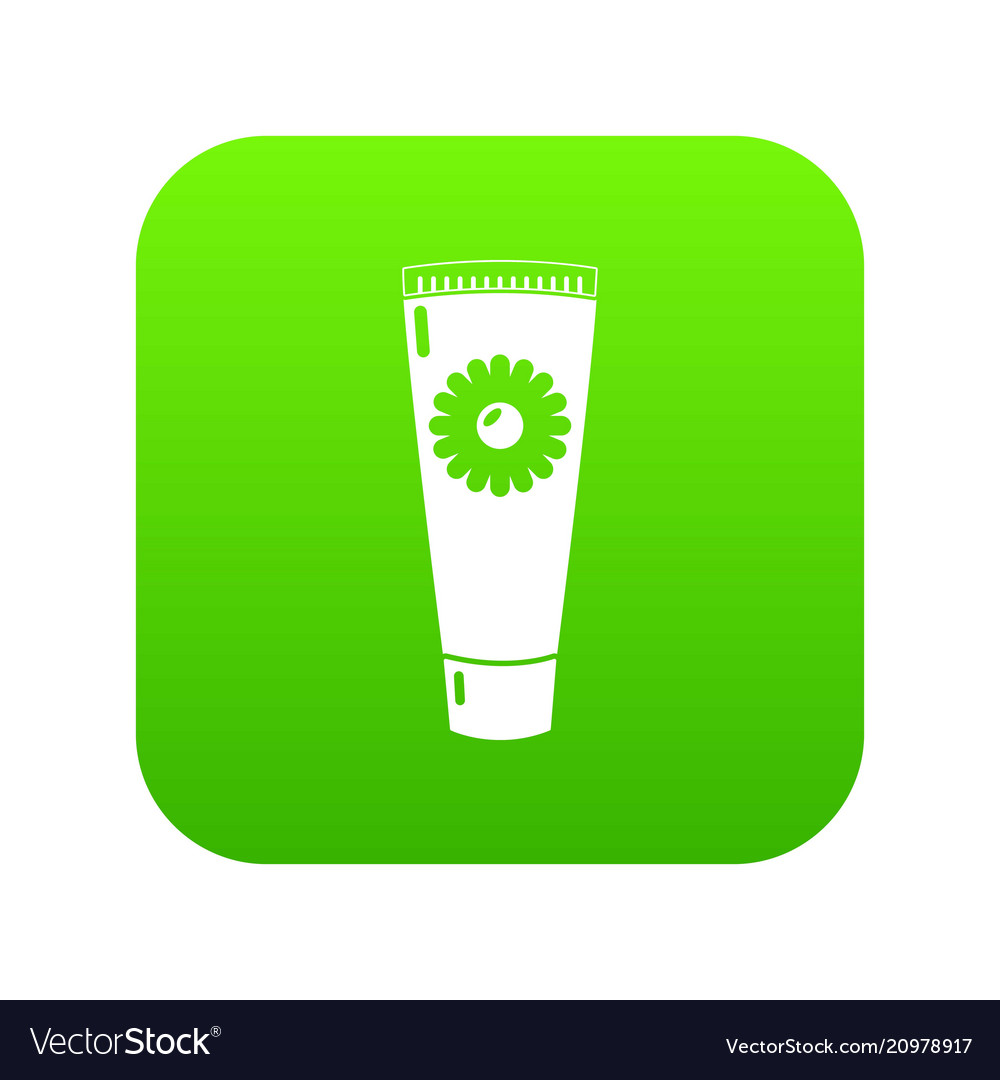Tube cream icon green vector image