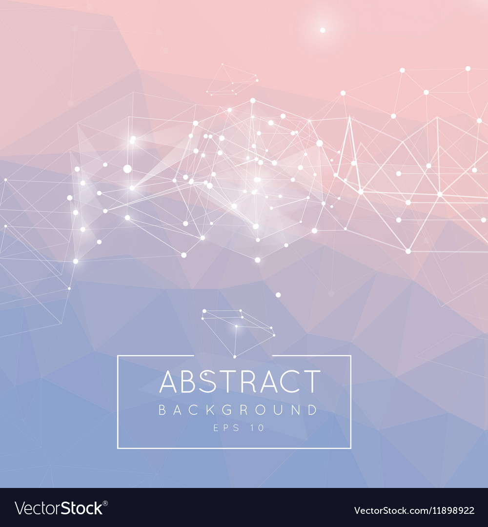 Abstract polygonal background Low poly design vector image
